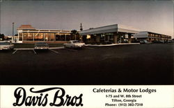 Davis Brothers Motor Lodge and Cafeteria Postcard