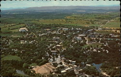 Aerial view showing Middlebury College