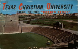 Texas Christian University from Amon Carter Stadium Postcard