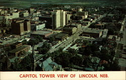 Capitol Tower view of Lincoln, Nebraska