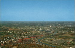 Aerial view of Butler Postcard