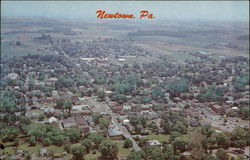 Aerial View of Newton, Pa