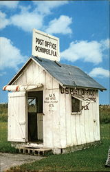 Smallest Post Office in U.S Postcard