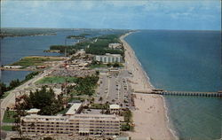 Aerial view of beautiful Lake Worth Beach.and Casino
