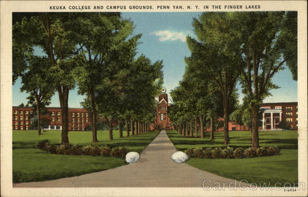 Keuka College and campus grounds Penn Yan New York