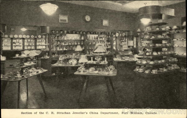 Section of the C. R. Strachan Jeweller's China Department Fort William Canada