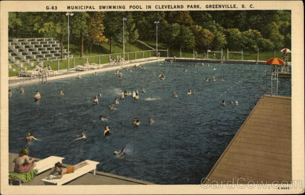 municipal swimming pool in cleveland park greenville sc