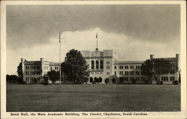 Bond Hall, the Main Academic Building, The Citadel Charleston South Carolina