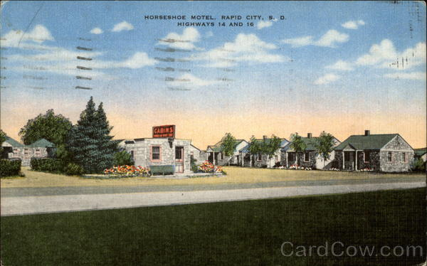 Horseshoe Motel, Rapid City, S.D. Highways 14 and 16 South Dakota
