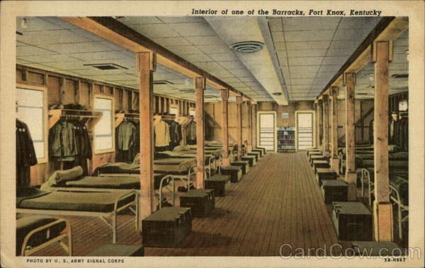 Interior of one of the Barracks Fort Knox Kentucky