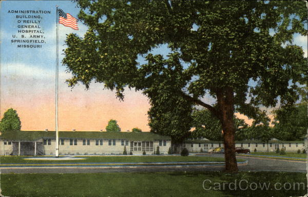 Administration Building, O'Reilly General Hospital, U.S. Army Springfield Missouri
