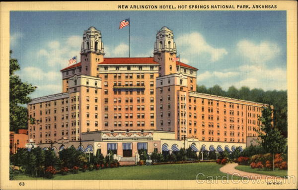 new arlington hotel hot springs national park arkansas. Black Bedroom Furniture Sets. Home Design Ideas