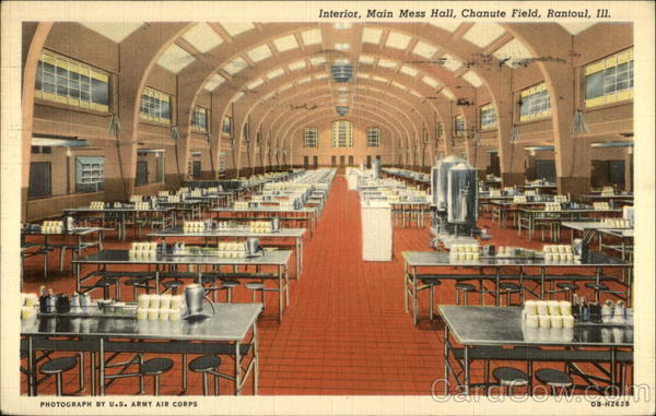 Interior, Main Mess Hall, Chanute Field Rantoul Illinois