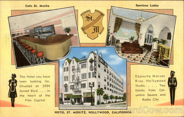 Hotel St. Moritz Hollywood California
