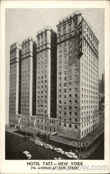 What Is My Paypal Email >> Hotel Taft New York, NY