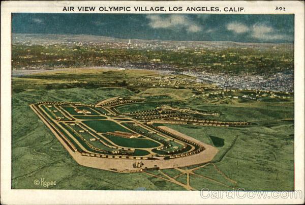 Air view Olympic Village Los Angeles California