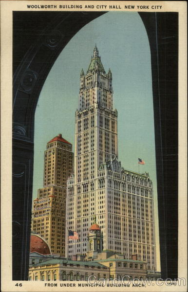 Woolworth Building and City Hall New York City