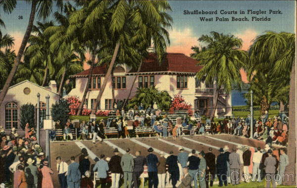Shuffleboard Courts in Flagler Park West Palm Beach Florida