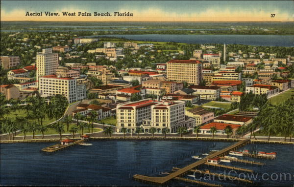Aerial View West Palm Beach Florida