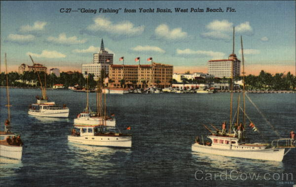 Going Fishing from Yacht Basin West Palm Beach Florida