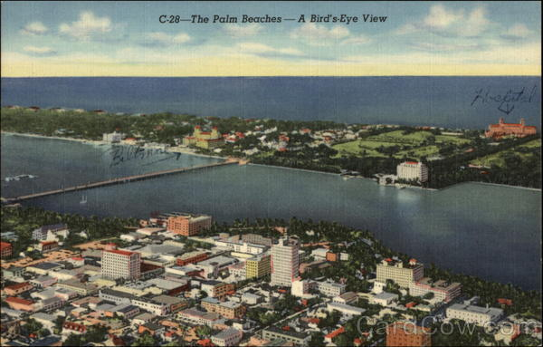 The Palm Beaches- A Bird's Eye View West Palm Beach Florida