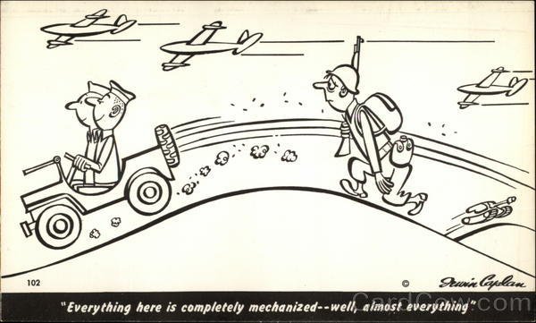 A Completely Mechanized Military Irwin Caplan Comic, Funny