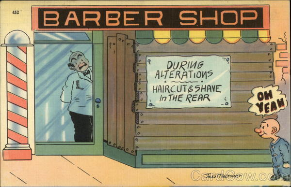 Funny Barber Quotes: Barber Shop Comic, Funny
