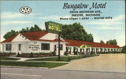 Bungalow Motel Postcard