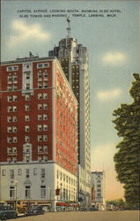 Capitol Avenue, Looking South, Showing Olds Hotel, Olds Tower and Masonic Temple