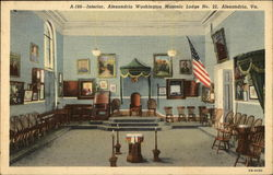 Interior, Alexandria Washington Masonic Lodge No. 22
