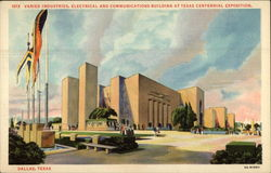 Varied Industries, Electrical and Communiications Building at Texas Centenniel Exposition Postcard