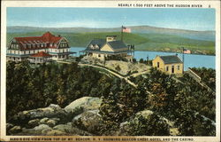 Bird's Eye View From Top of Mt. Beacon, Showing Beacon Crest Hotel and the Casino Postcard