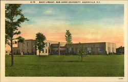 Mack Library, Bob Jones University Postcard