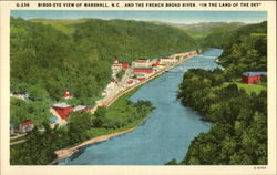 Birds-Eye View of Town and the French Broad River