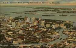 Downtown showing Miami River and Biscayne Bay