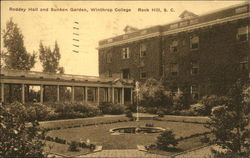Rodney Hall and Sunken Garden, Winthrop College Postcard