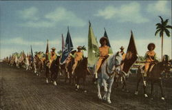 The Parade of States, Derby Day, Gulfstream Park Postcard