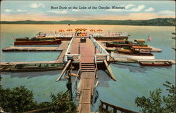 Boat Dock at the Lake of the Ozarks Postcard