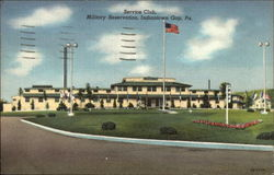 Service Club, Military Reservation Postcard