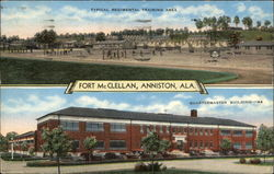 Fort McClellan, Anniston, ALA Typical Regimental Training Area, Quartermaster Building - 44