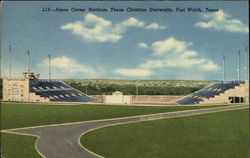 Amos Carter Stadium, Texas Christian University Postcard