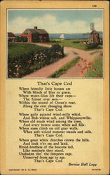 That's Cape Cod, poem by Bernice Hall Legg