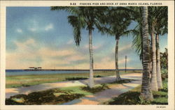 Fishing Pier and Dock Postcard