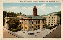 Mingo Memorial, Court House and Mountaineer Hotel Postcard