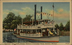 """Suwanee,"" Stern Paddle Steamer, Restored at Greenfield Village"