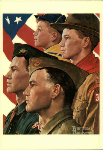 Growth of a Leader Norman Rockwell Art Boy Scouts