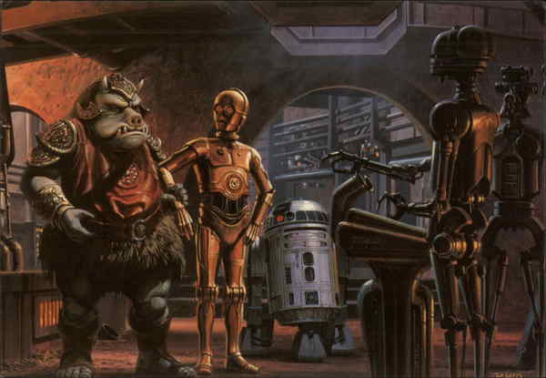 Return of the Jedi Ralph McQuarrie Movie and Television Advertising