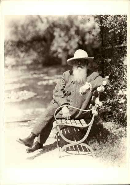 Claude Monet at Giverny, 1926 Nickolas Muray Celebrities