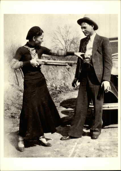 Bonnie Parker and Clyde Barrow, 1932 Celebrities