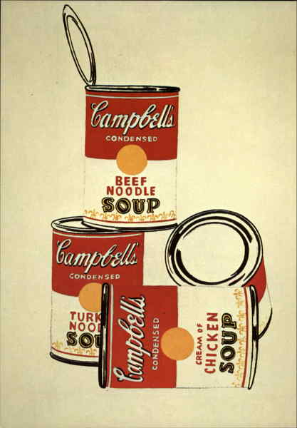 4 Campbell's Soup Cans, 1962 Andy Warhol Pop Art